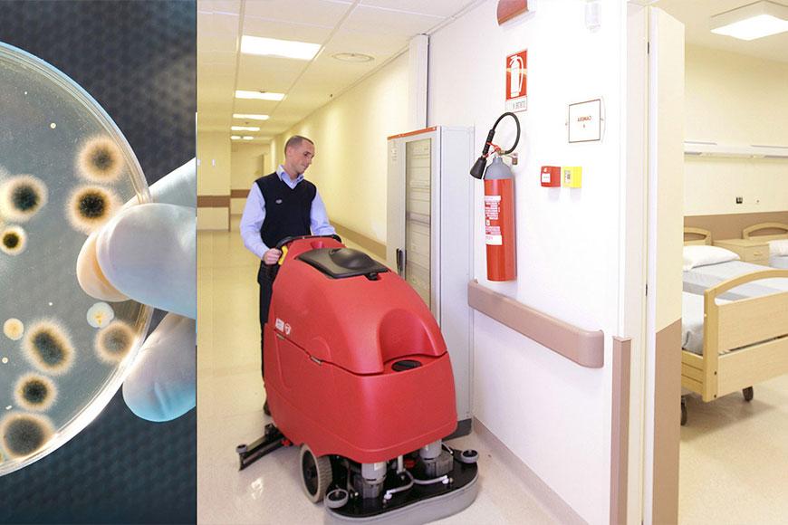 Lavare pavimenti di ospedali, ambulatori, cliniche